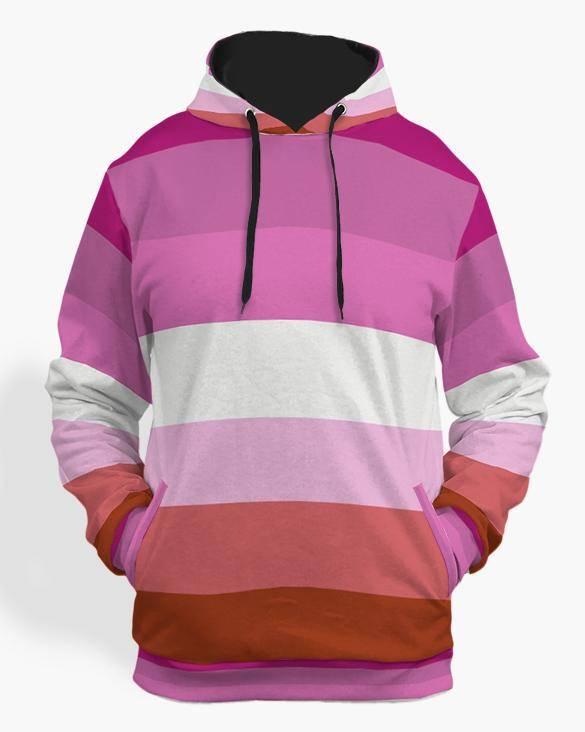 lesbian flag hoodie