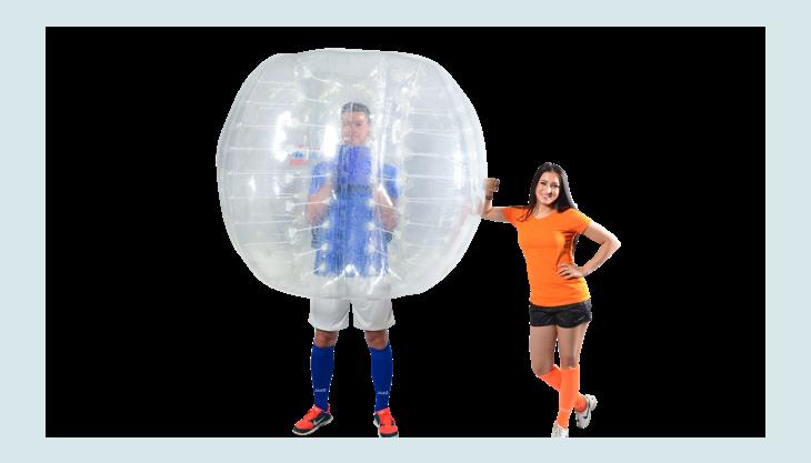 bubblefootball mannimbumperz und frauorange