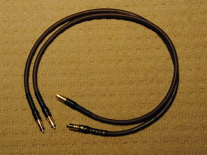 Cardas Golden Presence 1m RCA interconnects