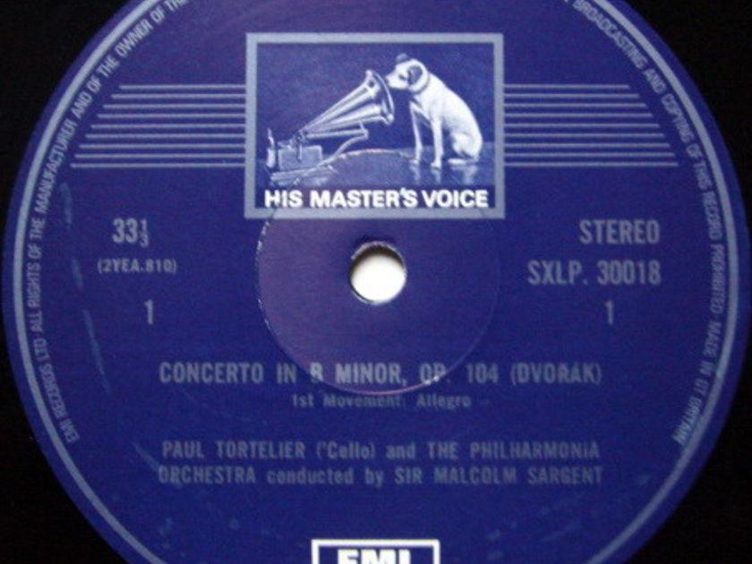 EMI HMV STAMP-DOG / TORTELIER-SARGENT, - Dvorak Cello Concerto, MINT!