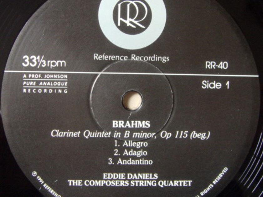 ★Audiophile 180g★ Reference Recordings / EDDIE DANIELS, - Weber-Brahms Clarinet Quintets, MINT!