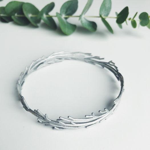 "Браслет ""Branch"" цвет серебро"