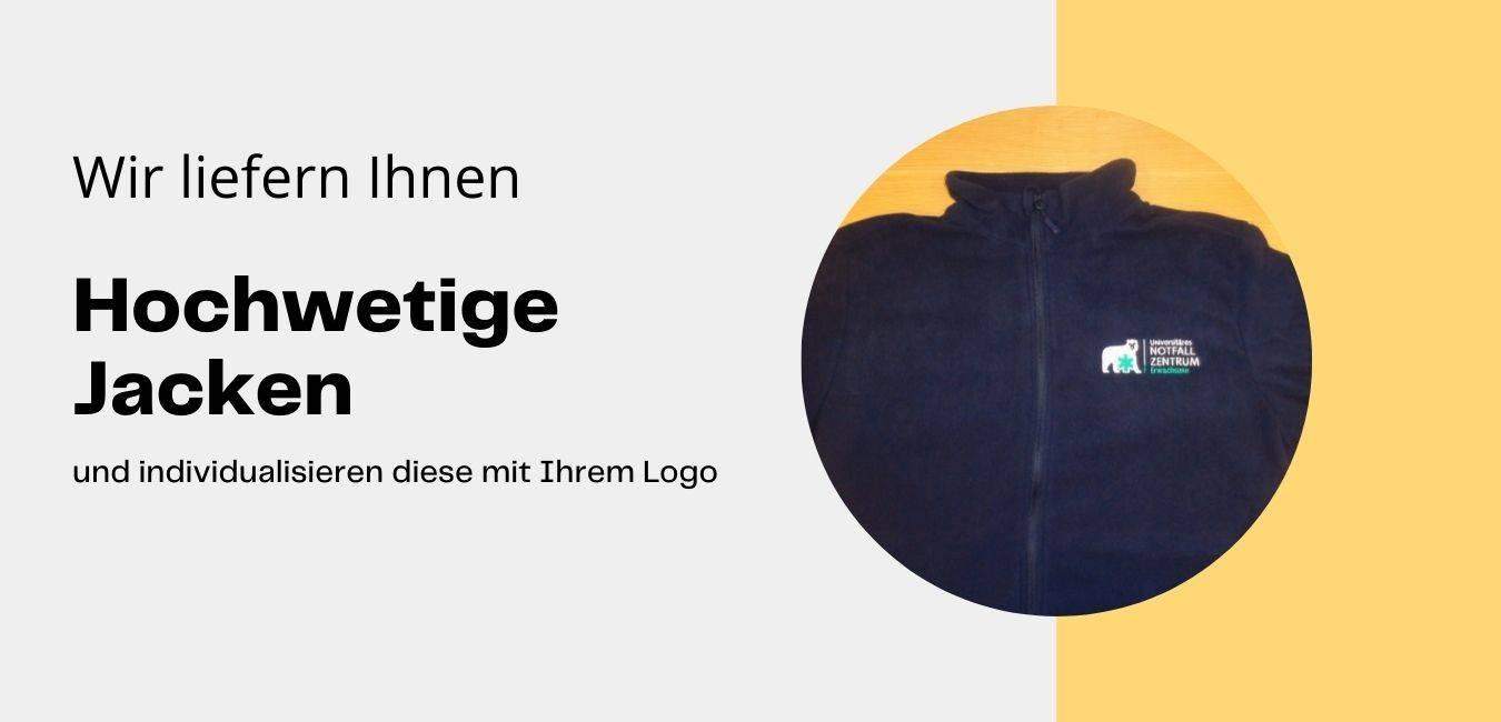 Hochwertige Jacke bedrucken oder besticken mit Logo