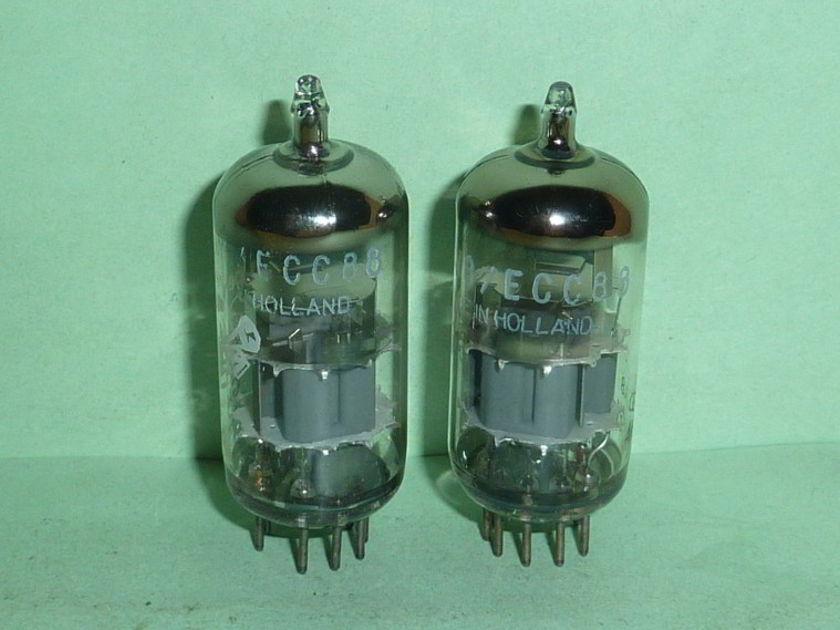 Amperex 6DJ8 ECC88 Bugle Boy Tubes, Matched Pair, Matched Codes, NOS/NIB Tested