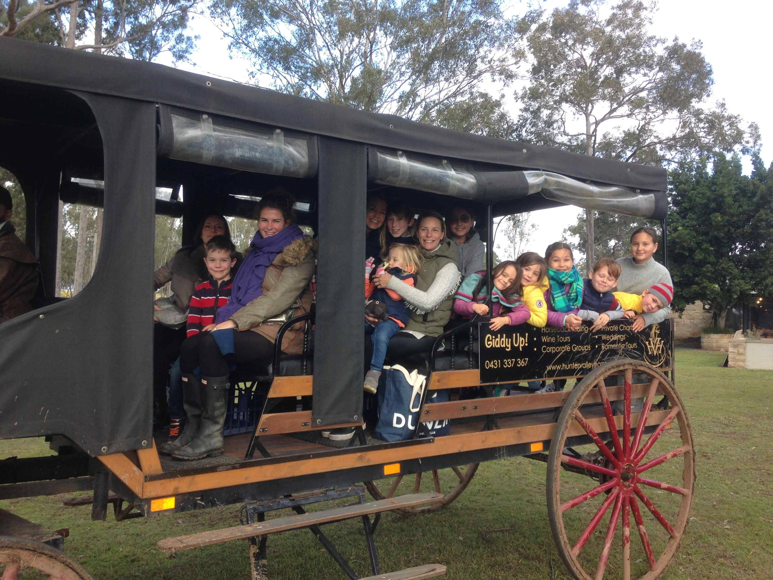 Horse and carriage at Blaxland Inn Hunter Valley Winery