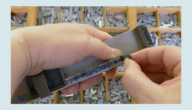 stiftung werkstattmuseum für druckkunst leipzig stanz stempel legen