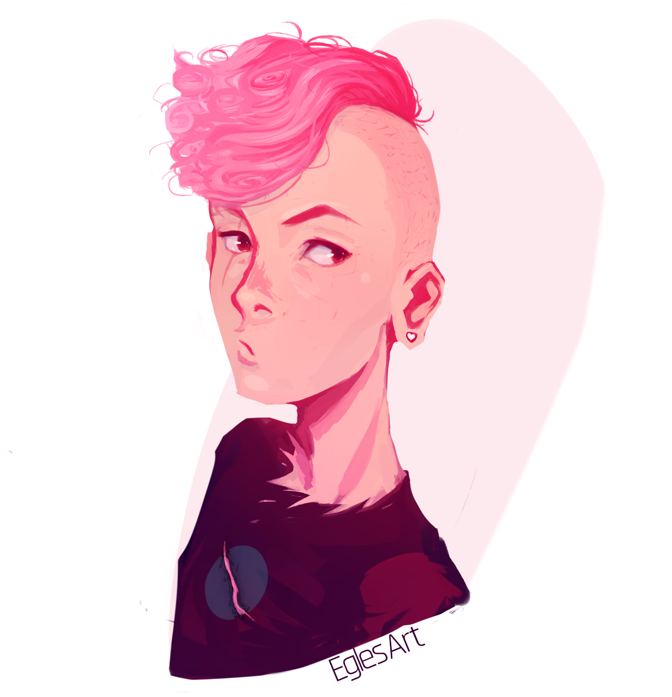 Pink Lars, a drawing by Eggylyte