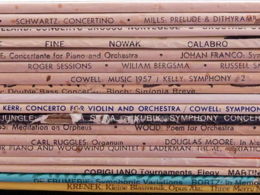Music Lover: 18 + 10 Modern Music Classical - LPs, Rare and Desirable Titles, For a Song!