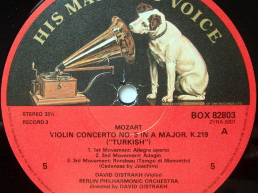 EMI ASD SEMI-CIRCLE / DAVID OISTRAKH, - Mozart Complete Violin Concertos, MINT, 4LP Box Set!