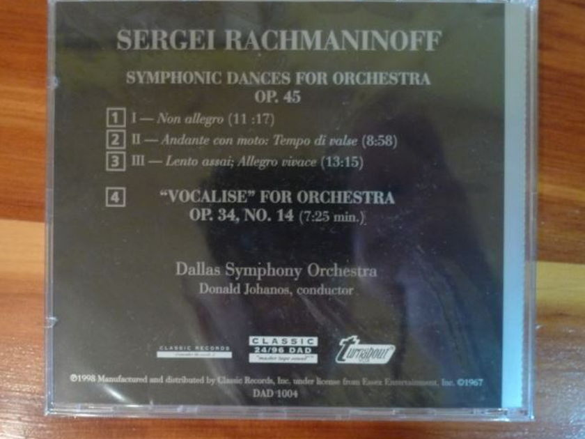 Dallas Symphony Orchestra - Rachmaninoff Symphonic Dances Vocalise Classic Records 24/96 DVD-A