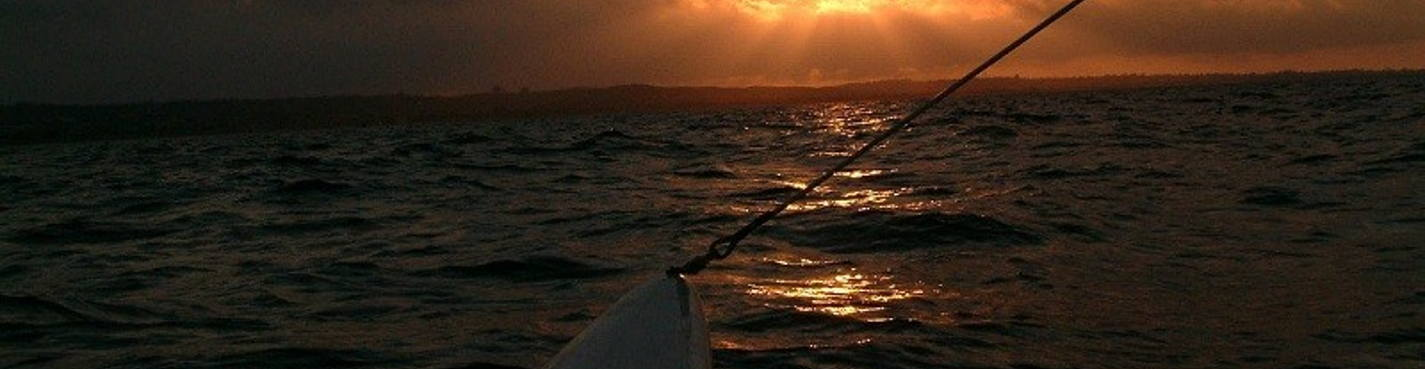 Закат в Океане — на Катамаране