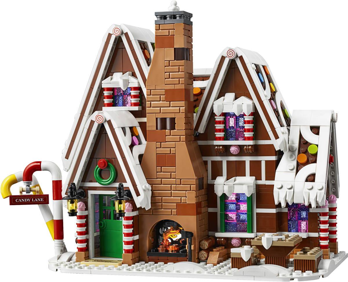 Gingerbread Lego Home Scene