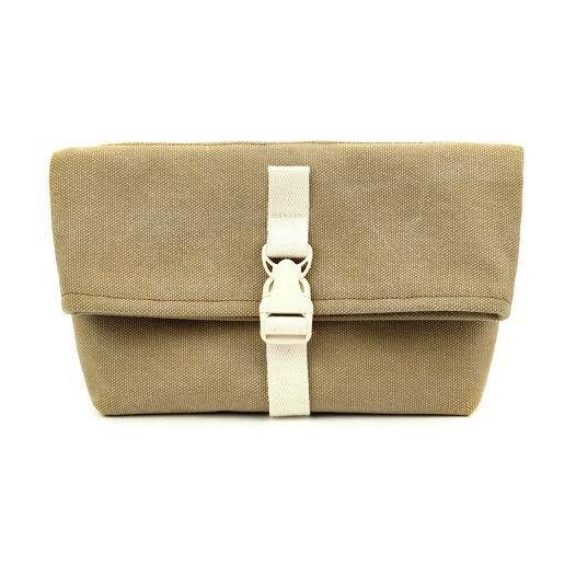 Поясная сумка из канваса, песочная, оригинальная