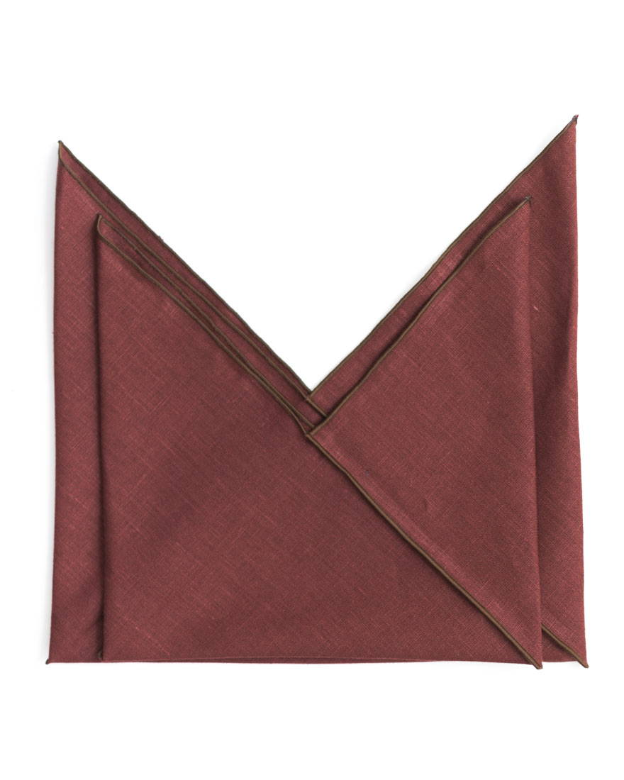 Red Linen Market Pouch