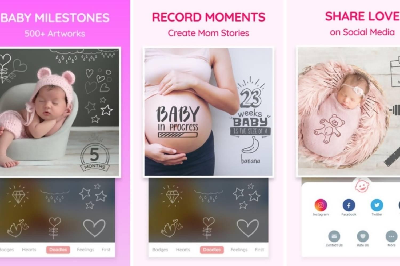 best baby milestone photo app free