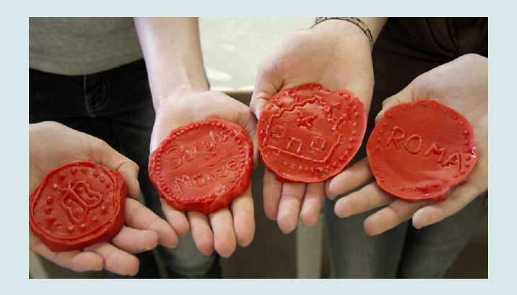 lvr archäologischer park xanten münzen gießen