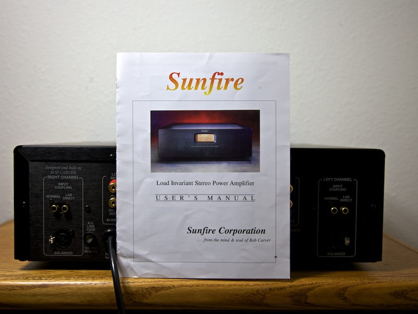 Sunfire Load Invariant Stereo Power Amplifier