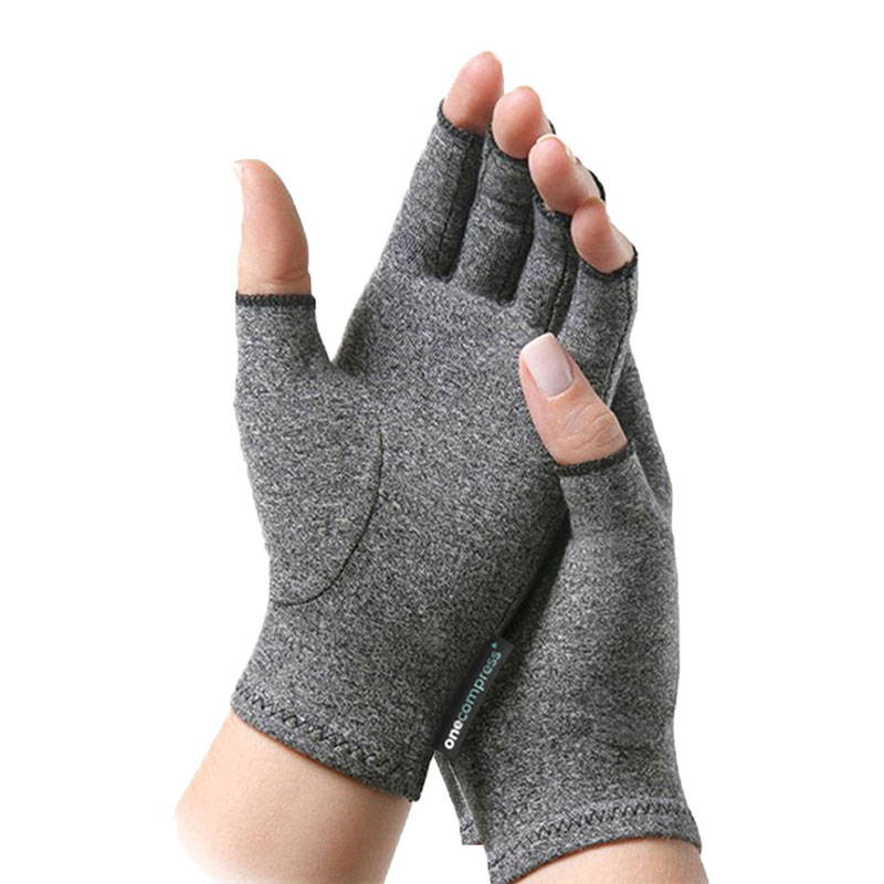 Onecompress Arthritis Compression Gloves, Fingerless Performance Gaming Gloves, Premium Gloves for Carpal Tunnel, Best Arthritis Gloves of 2020