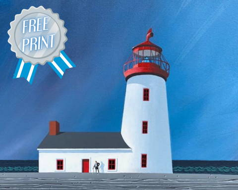 Andrew King The Last Lighthouse Print