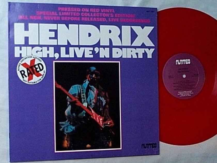 Jimi Hendrix Lp-High - live'n dirty-rare 1978 red vinyl album
