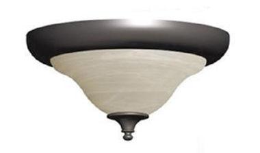 OPTIONAL FLUSH CEILING LIGHT-BRONZE