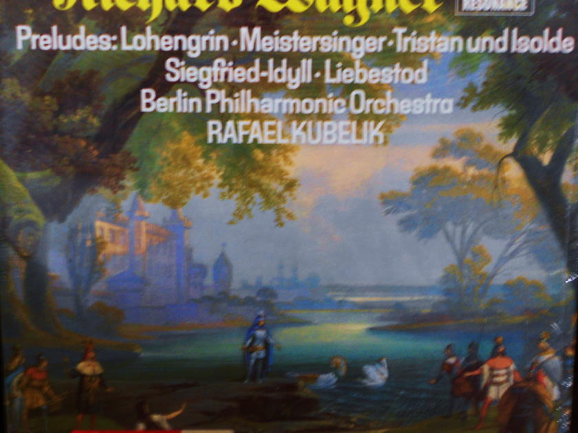 FACTORY SEALED ~ WAGNER~PRELUDES~  - RAFAEL KUBELIK ~ BERLIN PHILHARMONIC ORCHESTRA ~  DG 2535 212 RESONANCE STEREO (1963)