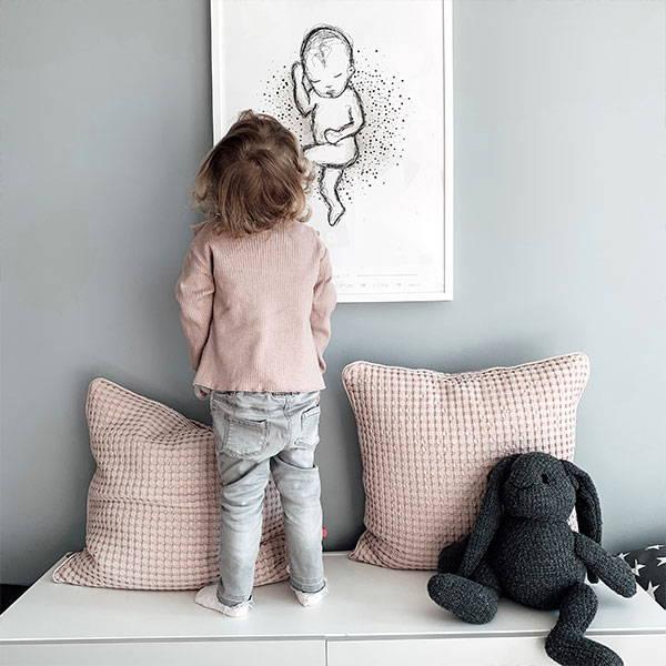 """Kind vor Geburtsposter """"Heart-Edition"""""""