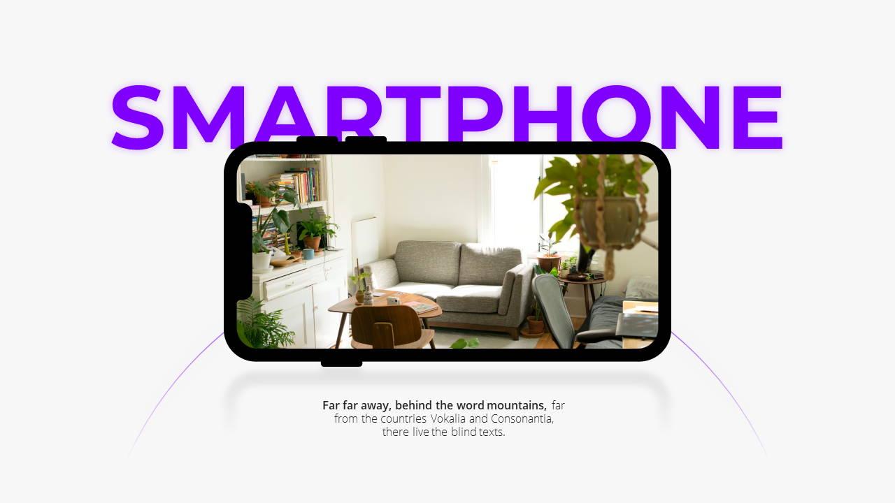 Minimal X  Pitch Deck Presentation Template Smartphone Showcase