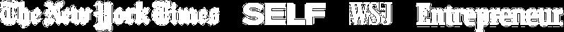 press media logos the new york times self wsj entrepreneur betterhelp