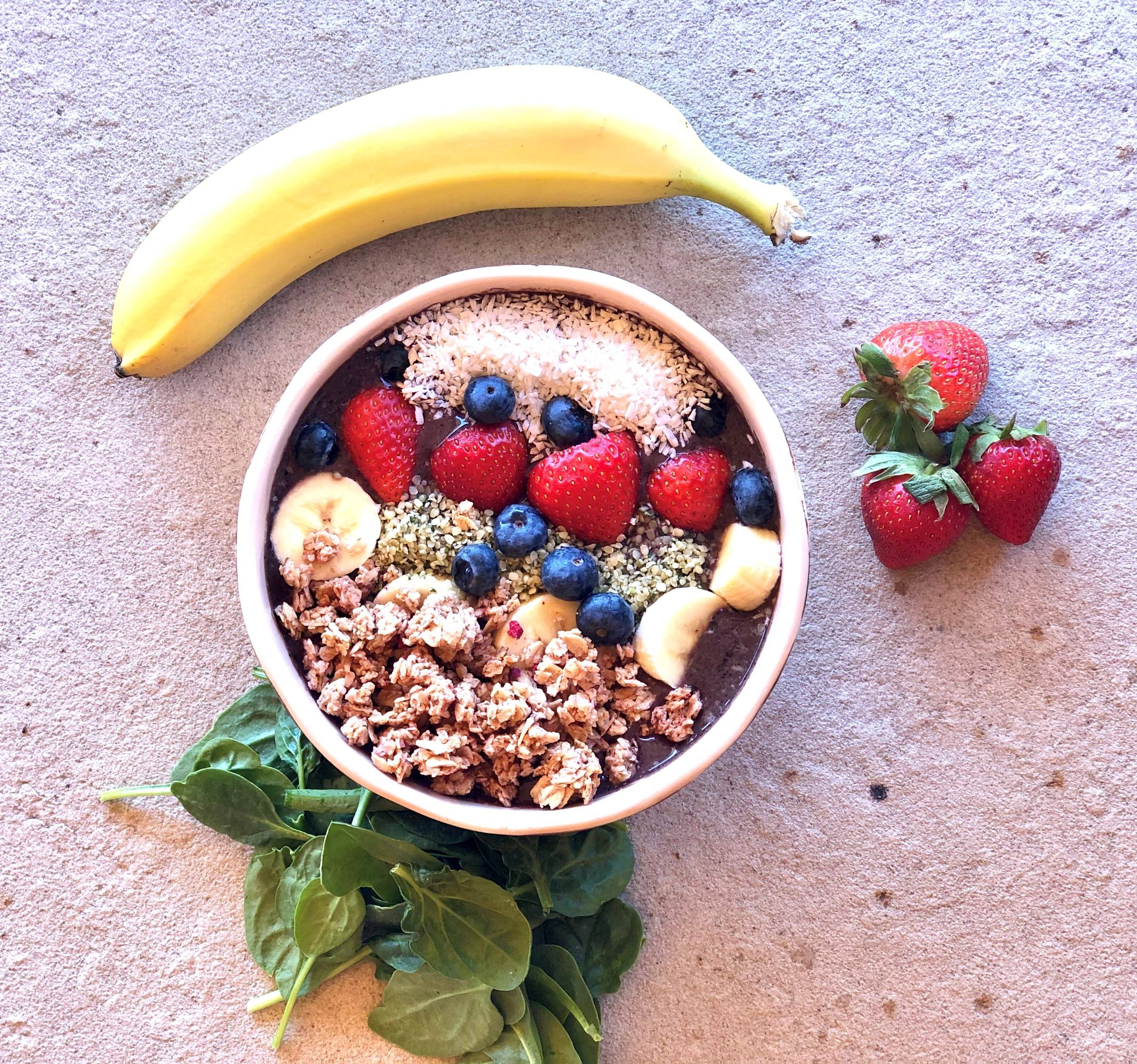 healthy granola acai bowl recipe