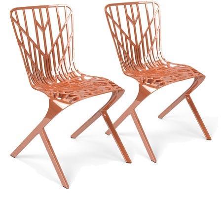 Editor's Picks: Modern Outdoor Furniture - featuring Washington Skeleton™ Outdoor Aluminum Side Chairs