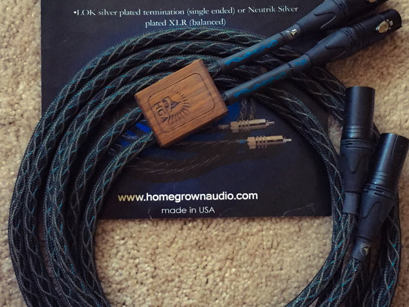 Homegrown Audio 2m DNA XLR Interconnects - MINT Condition, 99.99% Silver Conductors, FREE Shipping