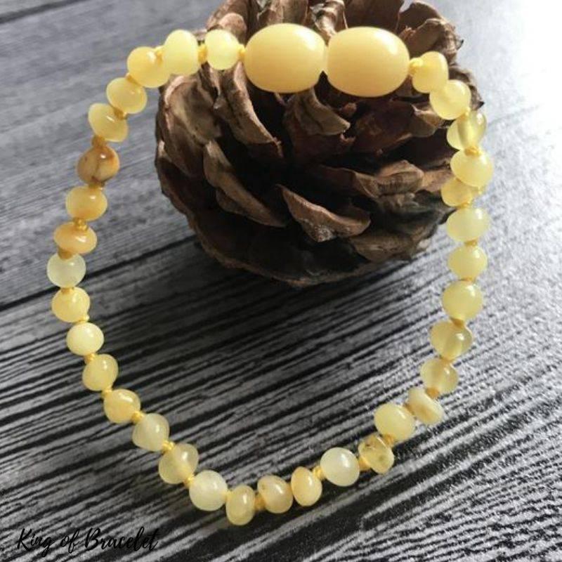 Bracelet de Lithothérapie en Ambre Jaune - King of Bracelet
