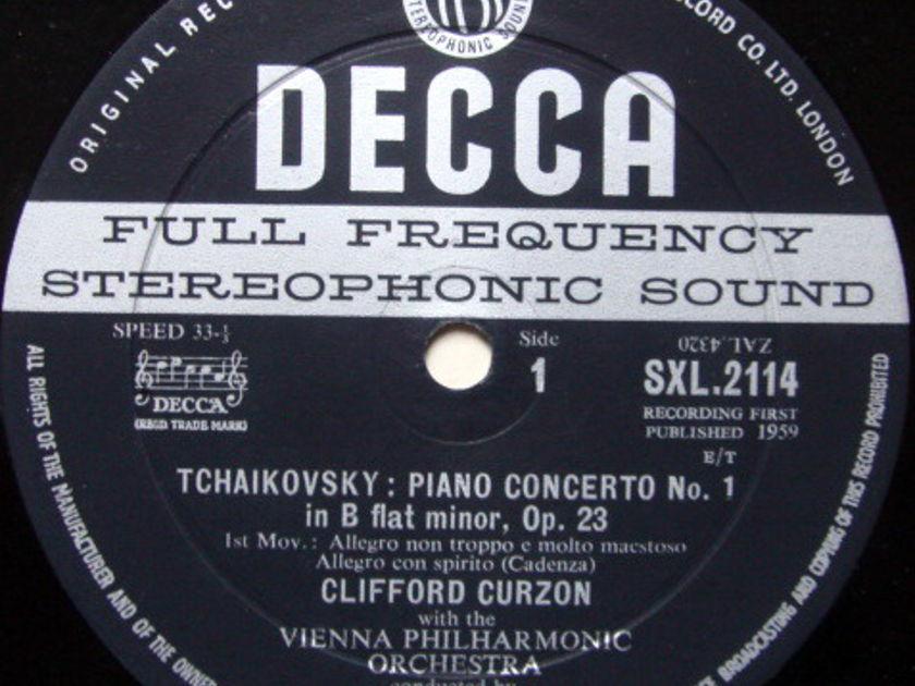 DECCA SXL-WB-ED1 / CURZON-SOLTI, - Tchaikovsky Piano Concertos No.1, EX!
