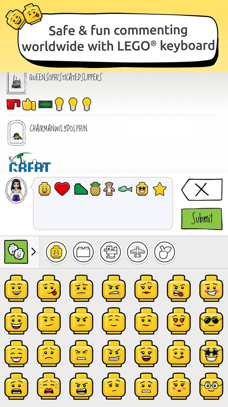 lego life app keyboard