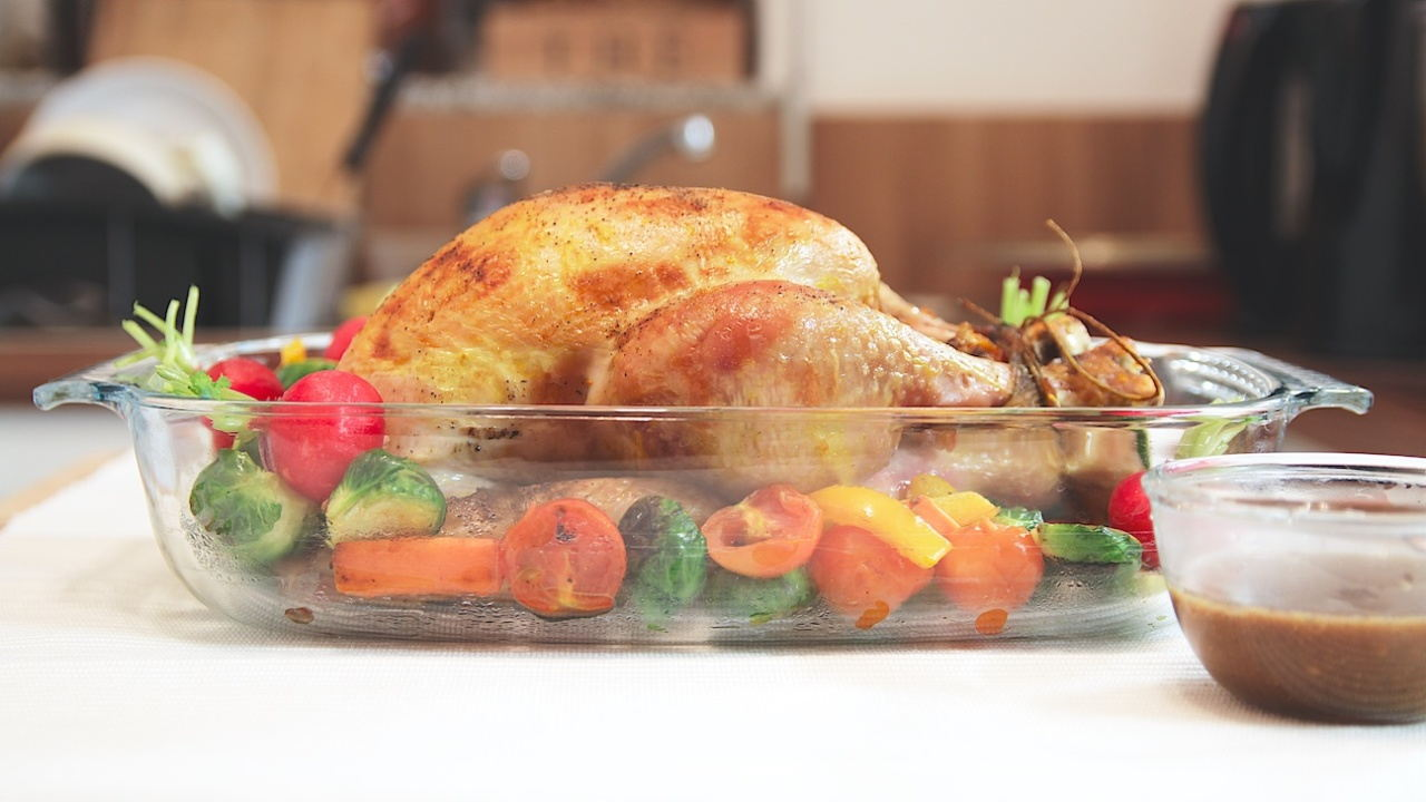 Roasted Turkey with Black Pepper Sauce