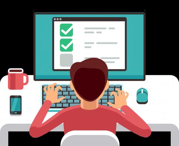 Online form filling survey
