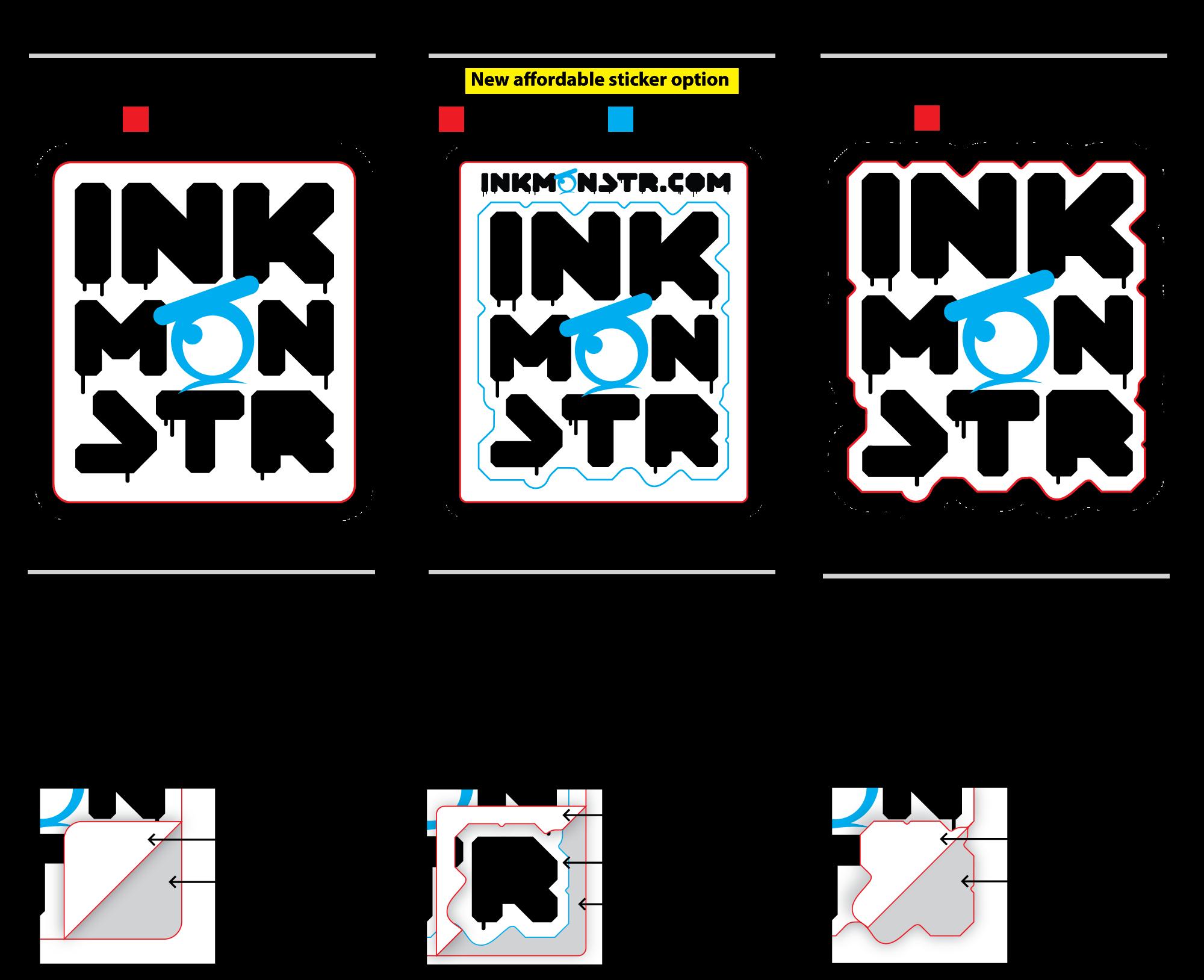 Sticker Cut Types - Simple Cut vs. Complex Cut vs Pro Shape Cut
