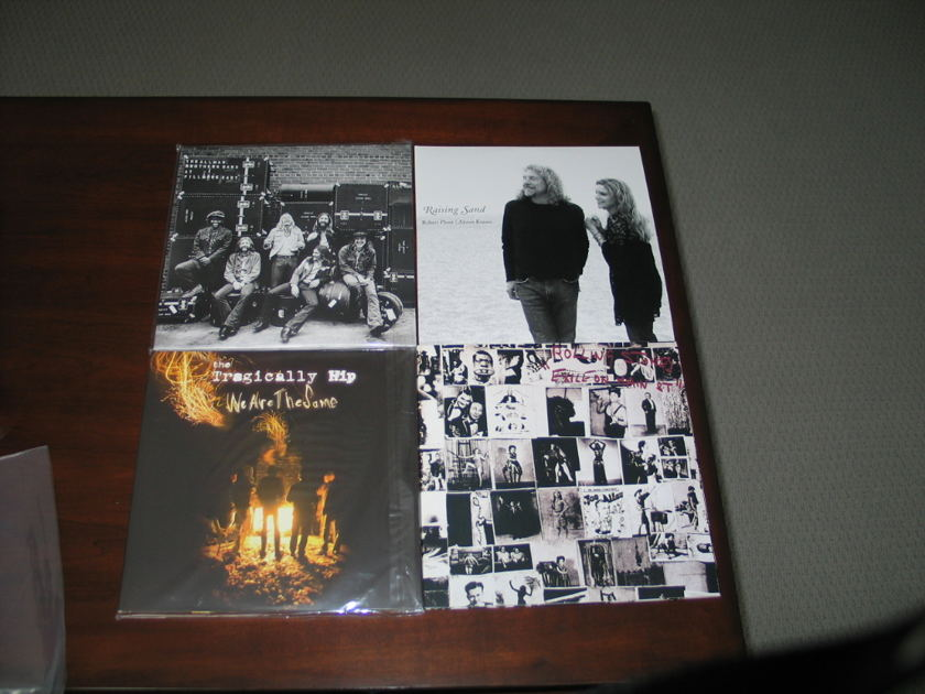 Rolling Stones.Tragically Hip,Allman Bros,Robert Plant&Allison Krause - 4 Audiophile 180 gram double gatefolds