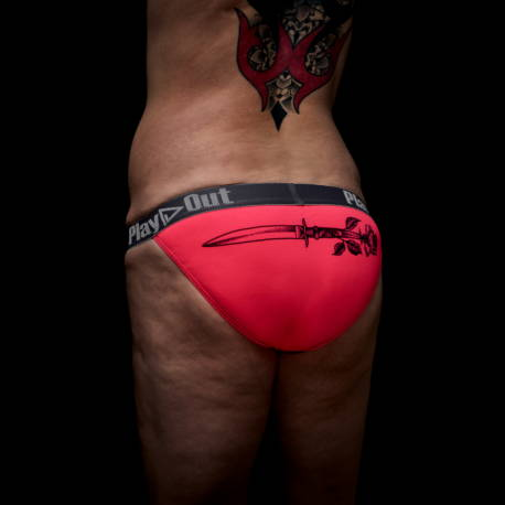 Zoe Bean dagger sketch hot pink pouch bikini underwear product shot