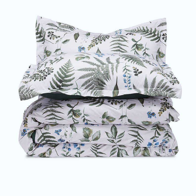 sleep zone bedding website store products collections printed duvet cover green tropical plants
