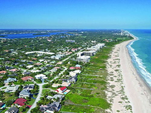 skyview of Vero Beach