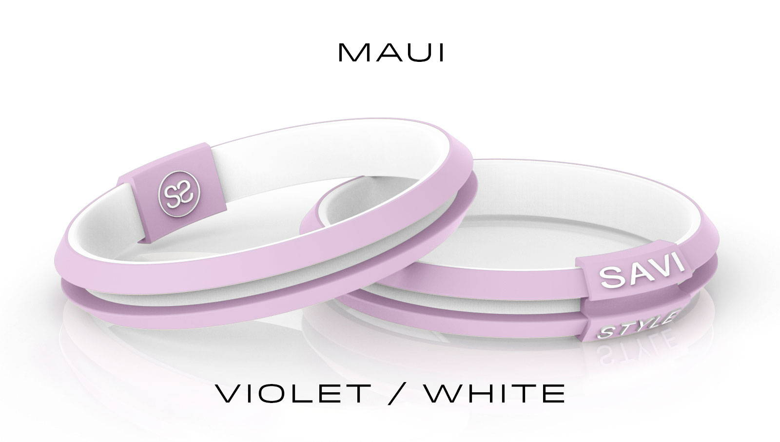 savi sleek maui by savistyle hair tie bracelet stacked view