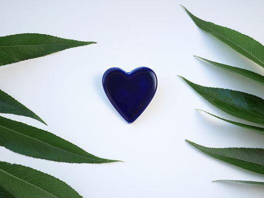"Брошь ""Сердце"" синее"