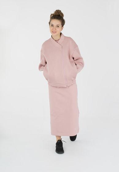 Комплект платье и бомбер цвета пепел розы