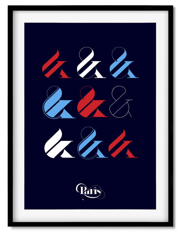 Ampersand Poster Moshik Nadav Fashion Typography