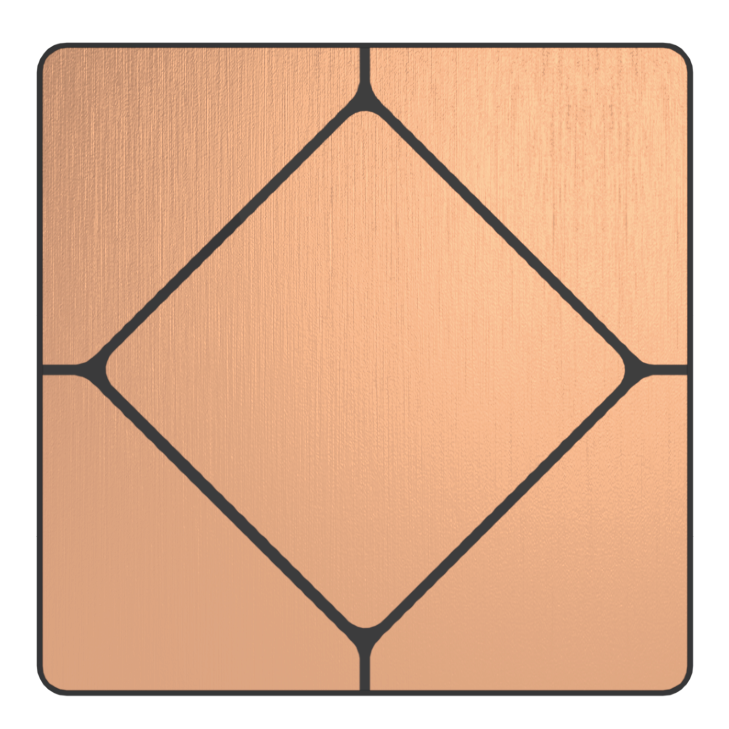 Faradite TAP-5 Brushed Copper Switch used with lutron