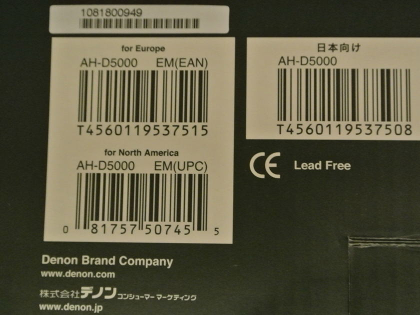 Denon AH-D5000 Headphones [New Open Box/Full Warranty/Receipt[