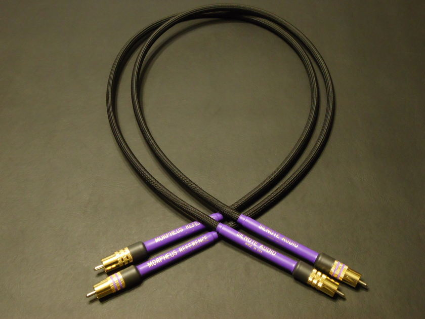 SILNOTE AUDIO   1.5 meter Morpheus Reference II RCA's  Ultra Pure Solid Silver / 24k Gold  World Class Silnote Audio Cables