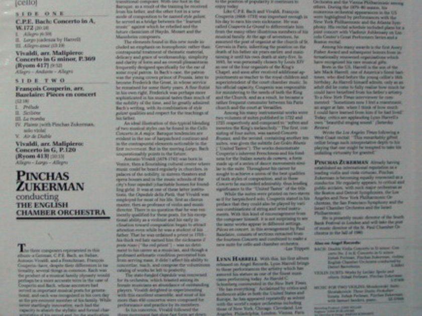 ★Sealed★ EMI Angel / HARRELL-ZUKERMAN, - CPE Bach Cello Concerto in A, Vivaldi Concertos!